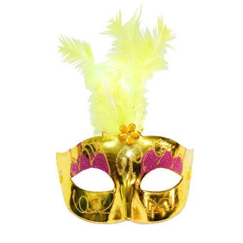 Mascara-Com-Luz-Led-Modelo-Feather-Amarelo-1