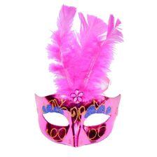 Mascara-Com-Luz-Led-Modelo-Feather-Rosa-1