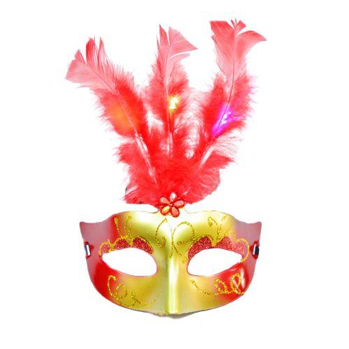 Mascara-Com-Luz-Led-Modelo-Feather-Vermelho-1