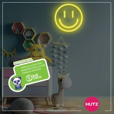 Placa-Neon-LED-Smile-Amarelo