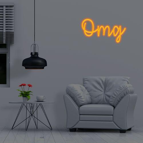 Placa Personalizada Neon LED AMBAR - Nome ou palavra com 3 Letras