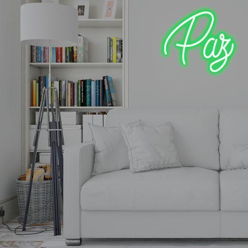 Placa Personalizada Neon LED Verde -  Nome ou palavra com 3 Letras