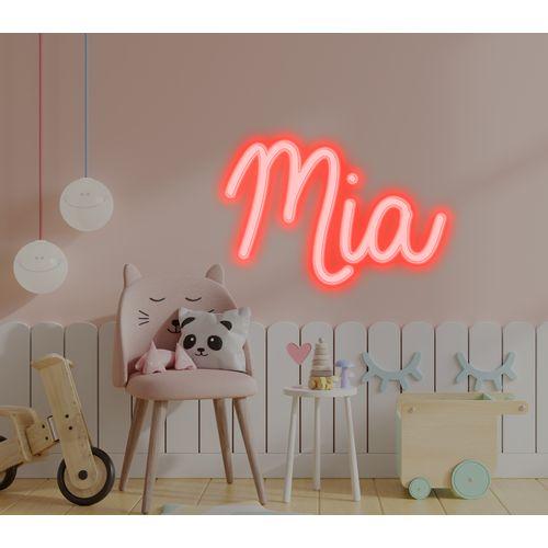 Placa Personalizada Neon LED Vermelho -  Nome ou palavra com 3 Letras