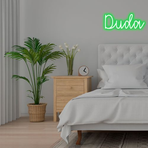 Placa Personalizada Neon LED Verde - Nome ou palavra com 4 Letras