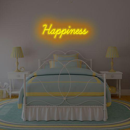 Letreiro Neon de LED Personalizada - Nome, frase ou palavra com 9 Letras - Ambar