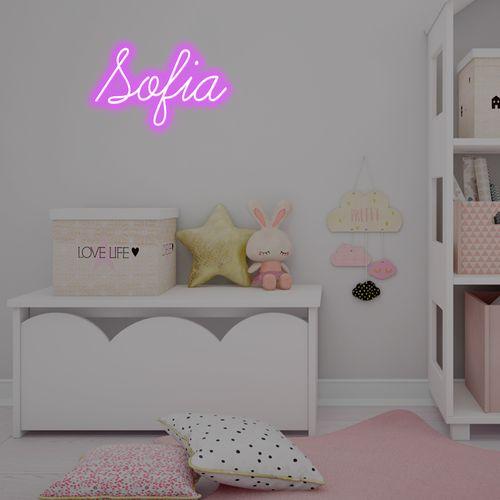 Letreiro Neon de LED Personalizada - Nome, frase ou palavra com 5 Letras - Roxo