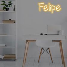 placa-letreiro-neon-com-6-letras-amarelo-nome-felipe