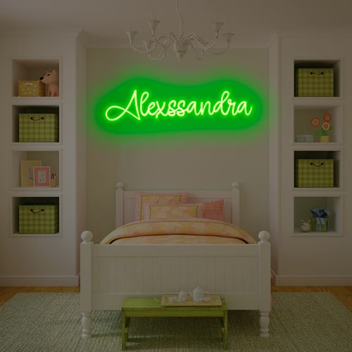 letreiro-neon-verde-palavra-com-11-letras-
