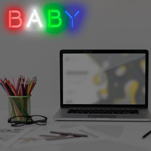 Letreiro-neon-led-Baby-RGB